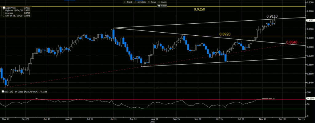 NZDCAD, Magnified Version in Daily Chart